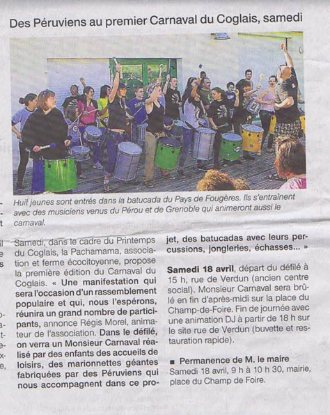 ouest France - 16 avril 2015