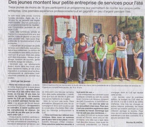 Article Ouest France 7 juillet 2015 - CJS